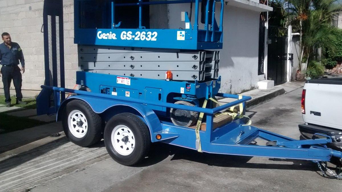 remolque  transporte de genie montacargas  maquinaria  en mercado libre