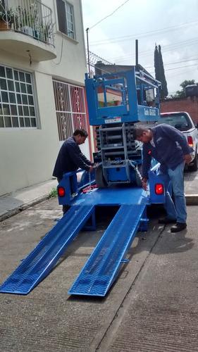 remolque para transporte de genie, montacargas y maquinaria