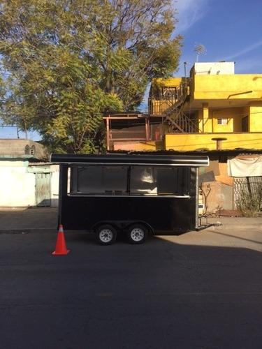 remolque para venta de alimentos 4 x 2 m puesto comida tacos