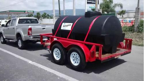 remolque pipa con tanque nodriza 2,850 lts, 2 ejes, 3 ton