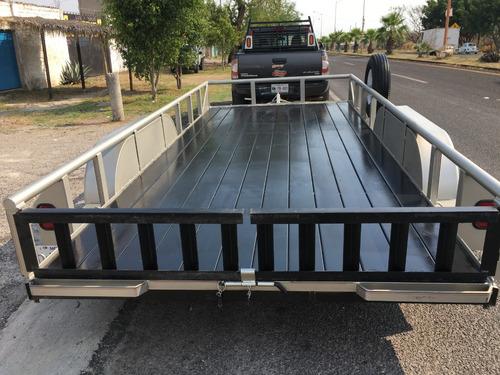 remolque plataforma 2 ejes, 3 ton, autos, carga en general
