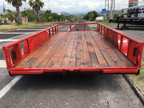 remolque plataforma 2 ejes, 3 ton, promoción del mes