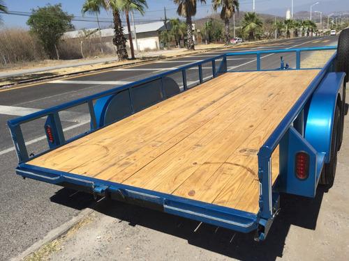 remolque plataforma 2 ejes, autos, carga, promoción del mes