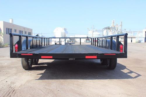 remolque plataforma 2016 nuevo (traila, cama baja)