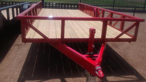 remolque plataforma 6000 kilos nuevo con serie 4.80 largo