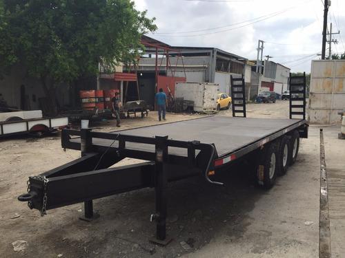 remolque plataforma cama alta camiones maquinaria retro mty