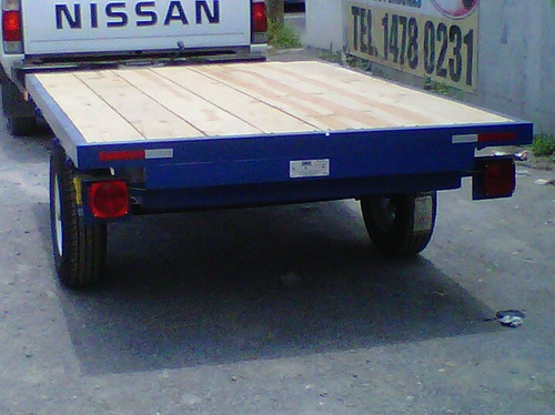 remolque plataforma cama alta camioneta carga mty 17