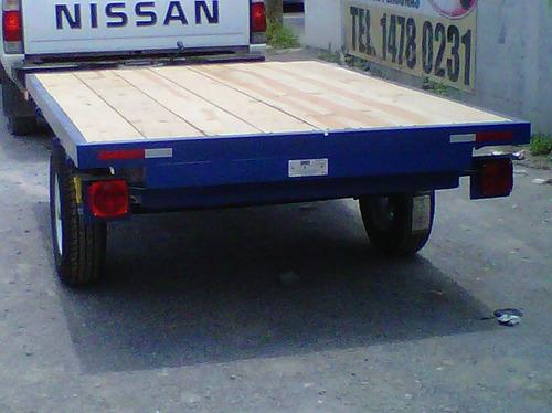 remolque plataforma cama alta camioneta carga mty 18