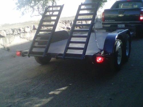 remolque plataforma cama baja maquinaria mex