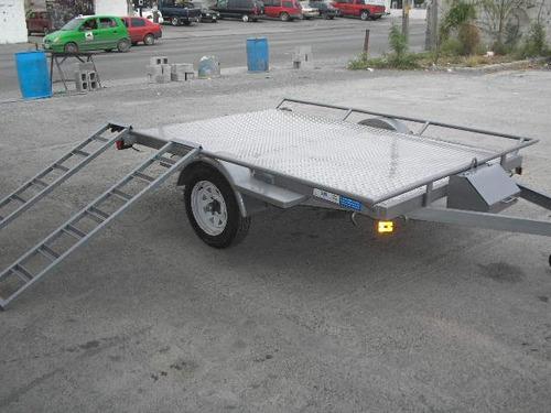 remolque plataforma cuatrimotos grandes camionetas mex 18