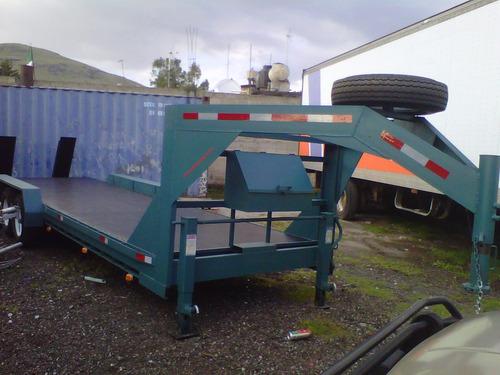 remolque plataforma cuello ganso maquinaria camiones ver 17