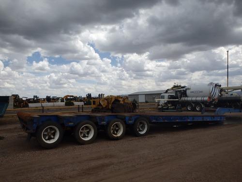 remolque plataforma lowboy trailer camion brown folio 9140
