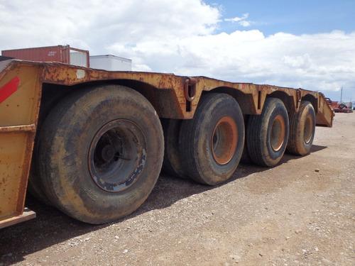 remolque plataforma lowboy trailer camion load king 9139