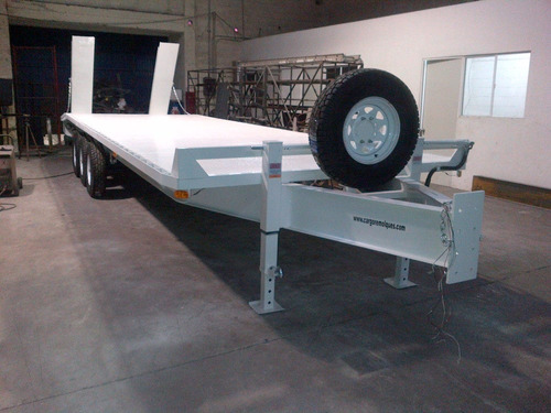 remolque plataforma maquinaria retroexcavadora mex 17