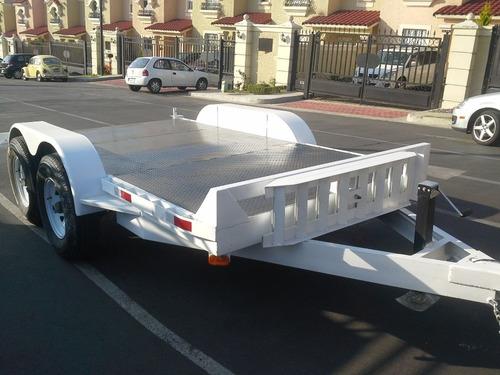 remolque plataforma montacargas bobkat minicargador mex 17