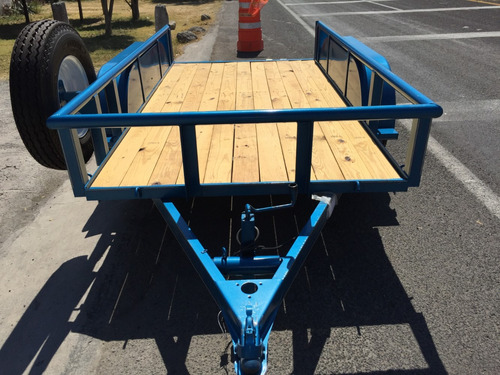remolque plataforma para 3 toneladas, 2 ejes, maquinaria