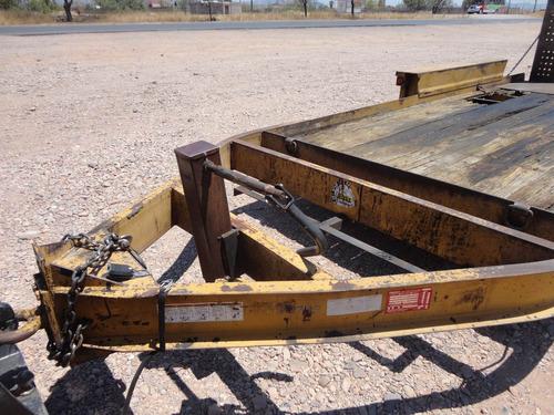 remolque plataforma para maquinaria
