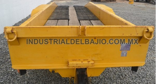 remolque plataforma traila cama baja jalon dona