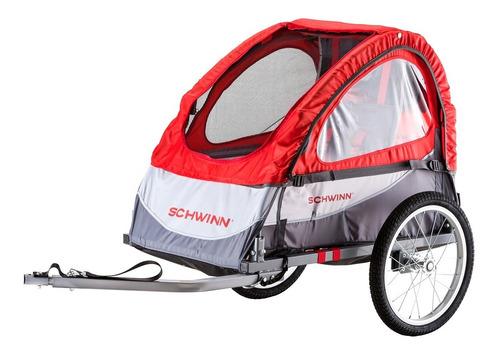 remolque schwinn trailblazer single bike rojo