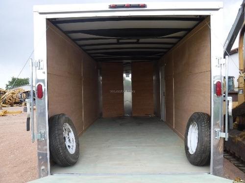 remolque tipo caja seca de 18 ft x 7 ft. puerta avatible