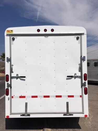 remolque tipo caja seca de aluminio, motos cuatrimotos, rzrs