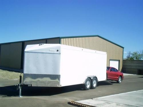 remolque tipo caja seca de aluminio, motos,cuatrimotos,autos