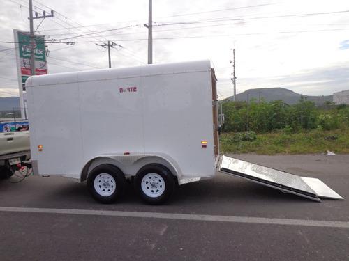 remolque tipo caja seca de aluminio, motos,cuatrimotos,karts