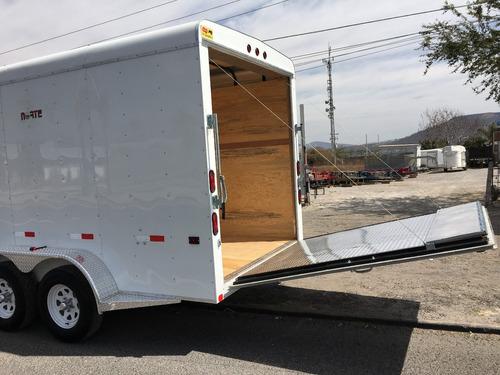 remolque tipo caja seca de aluminio, rzrs, motos cuatrimotos