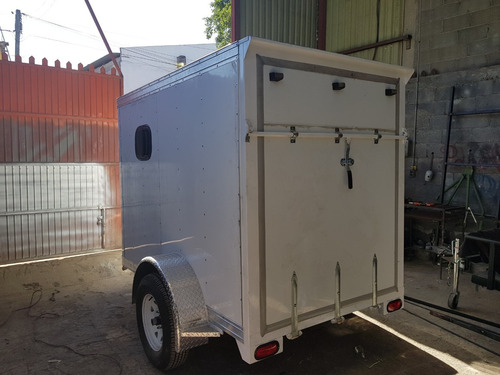 remolque traila cerrada aluminio camion motos mex 20