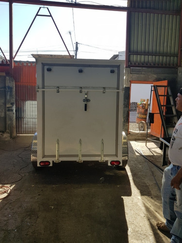remolque traila cerrada aluminio camion motos qro 20
