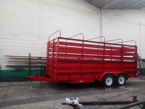 remolque traila ganadero camioneta ganado mty 20
