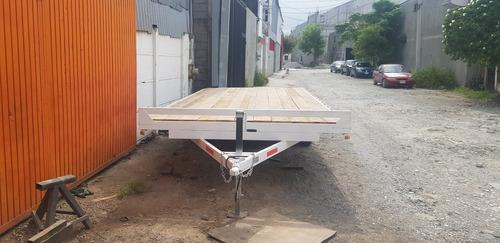 remolque traila plataforma cama alta camion qro20