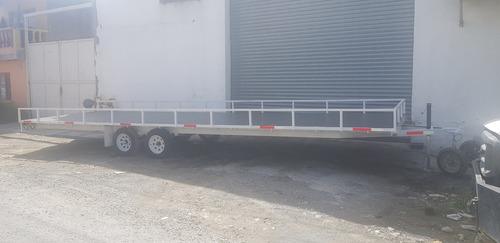 remolque traila plataforma  ligero cama alta camion mty 20