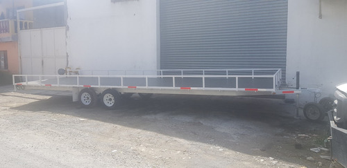 remolque traila plataforma  ligero cama alta camion qro 20