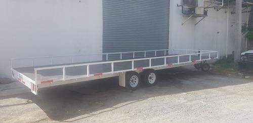 remolque traila plataforma  ligero cama alta camion ver 20