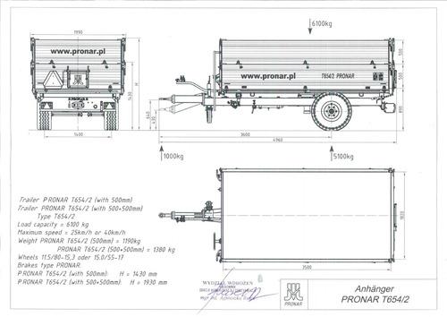 remolque trivuelco t654/2