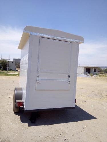 remolque  venta comida, caja seca nuevo con serie 17