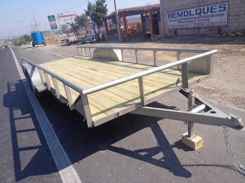 remolque,plataforma,cama baja,2 ejes 3 ton,promoción del mes