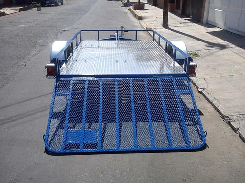 remolques plataforma con tapa rampa (cuatrimotos,cross,pista