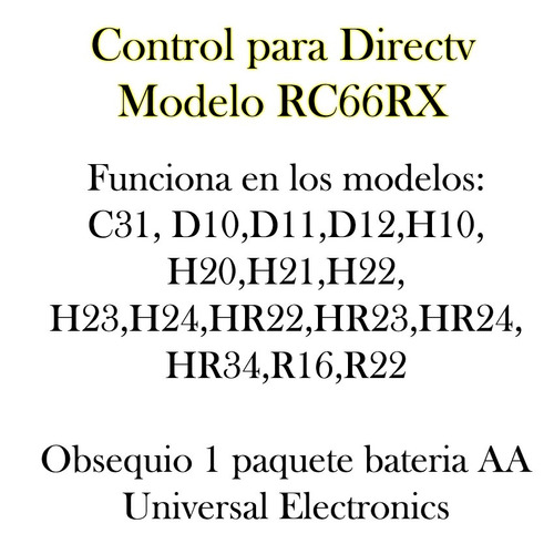 remoto directv control
