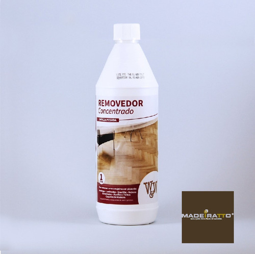 removedor de ceras p/ pisos de madeira -1l - w&w