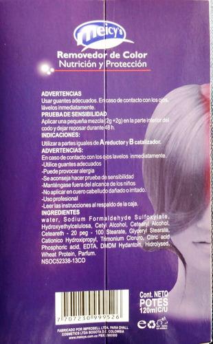 removedor de color cabellos tinturados meicys