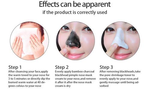 removedor de espinillas, mascarilla negro tratamiento