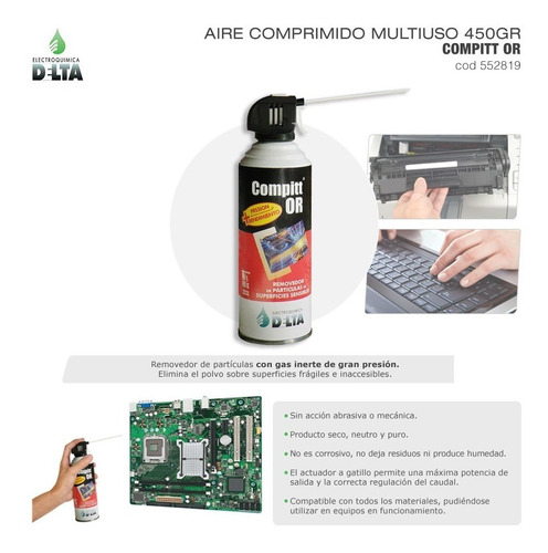 removedor de particulas delta aire comprimido 440g