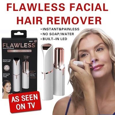 removedor de vello facial flawless recargable