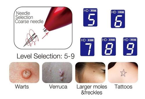 removedor de verrugas lunares tatuajes pecas recargable