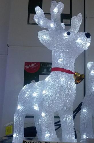 rena /cervo - iluminado - acrílico - 50 lâmpadas led - 110v