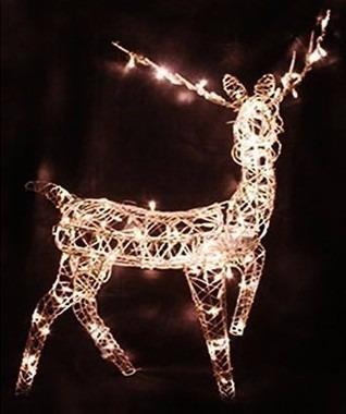 rena de led iluminada em pé pra decoração com movimento 220v