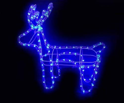 rena iluminada de 112 lampadas led azul decoração natal