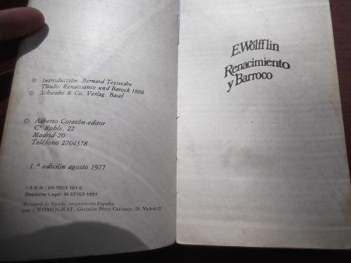 renacimiento y barroco wolfflin analisis arte ensayo